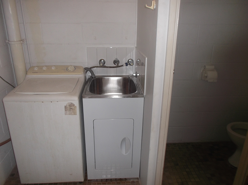 Remove Old Rusted Laundry Trough And Replace With New Cabinet And Splash  Back Tiles. U003cu003e