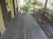 Remove rotten marbeu decking and replace with Eco deck system.