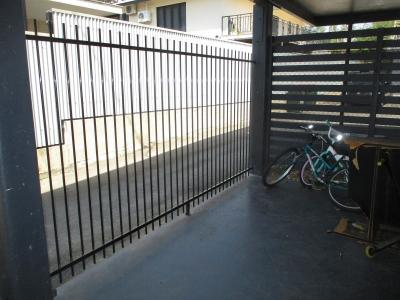 Remove damaged rotten fence panels and replace with pool fence panels.